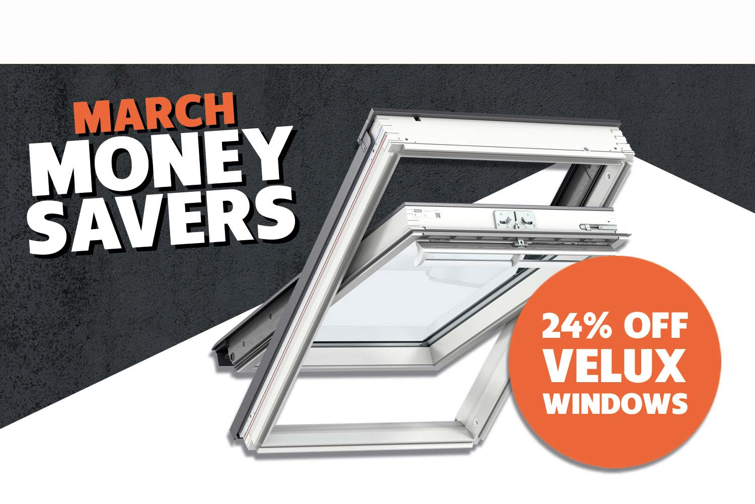 24% OFF ALL VELUX ROOF WINDOWS