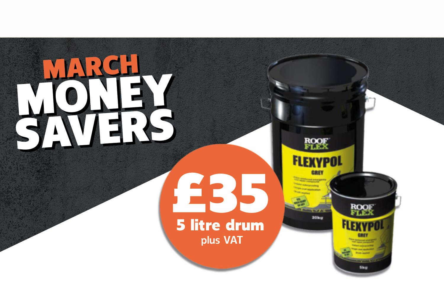 FLEXYPOL 5L DRUM ONLY £35 + VAT