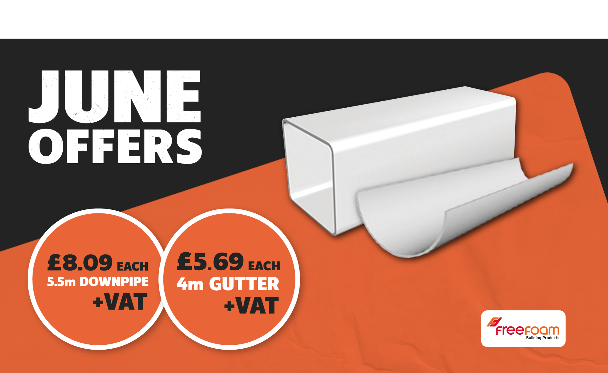 FREEFOAM RAINWATER DRAINAGE FROM £5.69