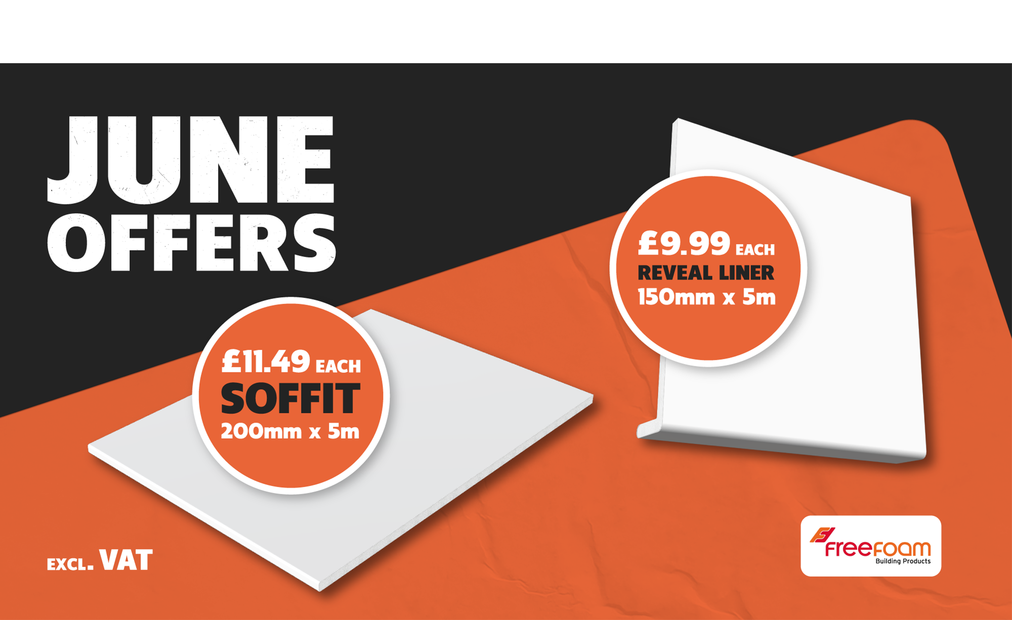 FREEFOAM ROOFLINE SOFFIT & REVEAL LINER FROM £9.99