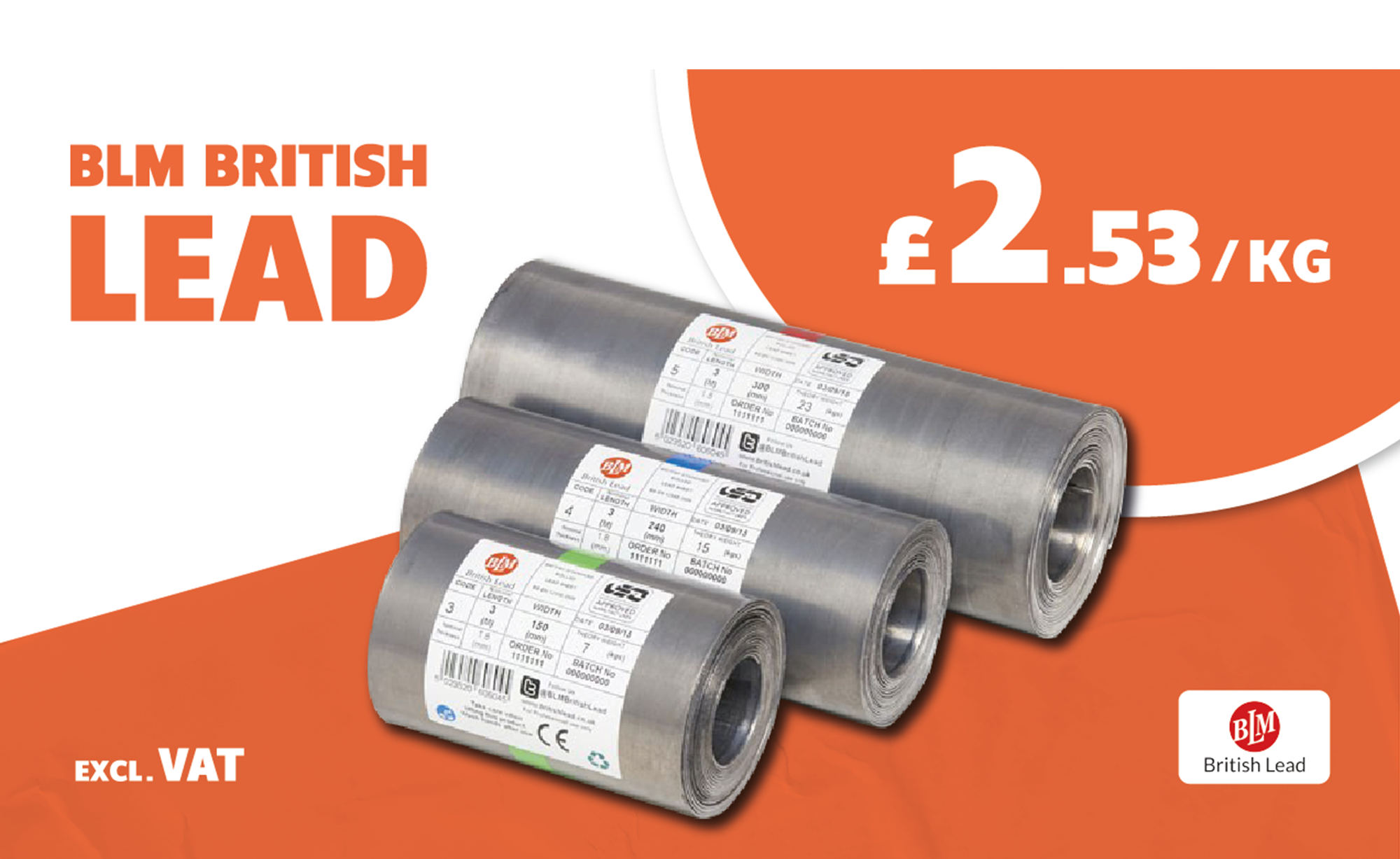 BLM LEAD ONLY £2.53/KG