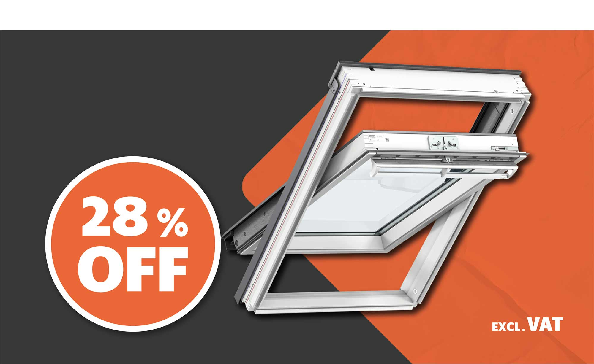 28% OFF ALL VELUX®ROOF WINDOWS