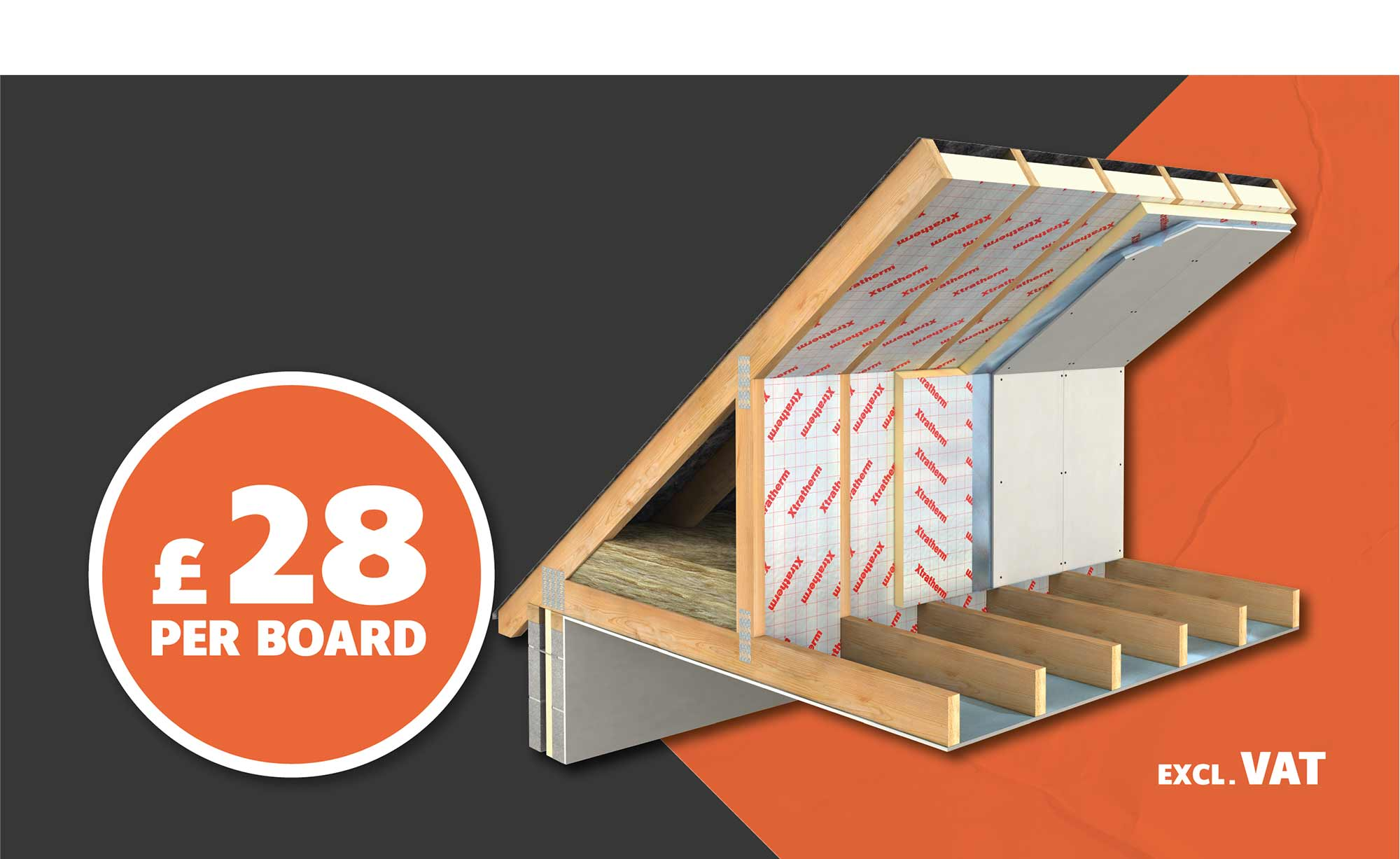 XTRATHERM PITCHED INSULATION ONLY £28