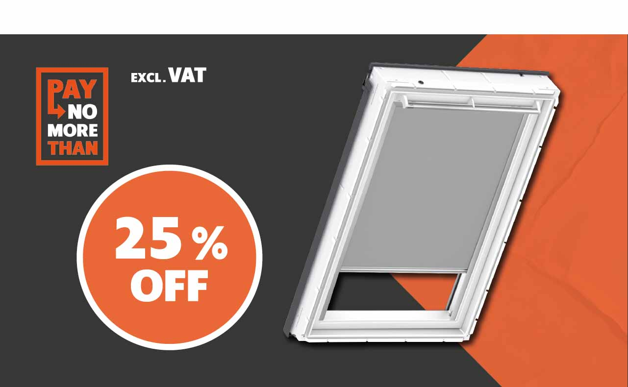25% OFF all VELUX® Blinds