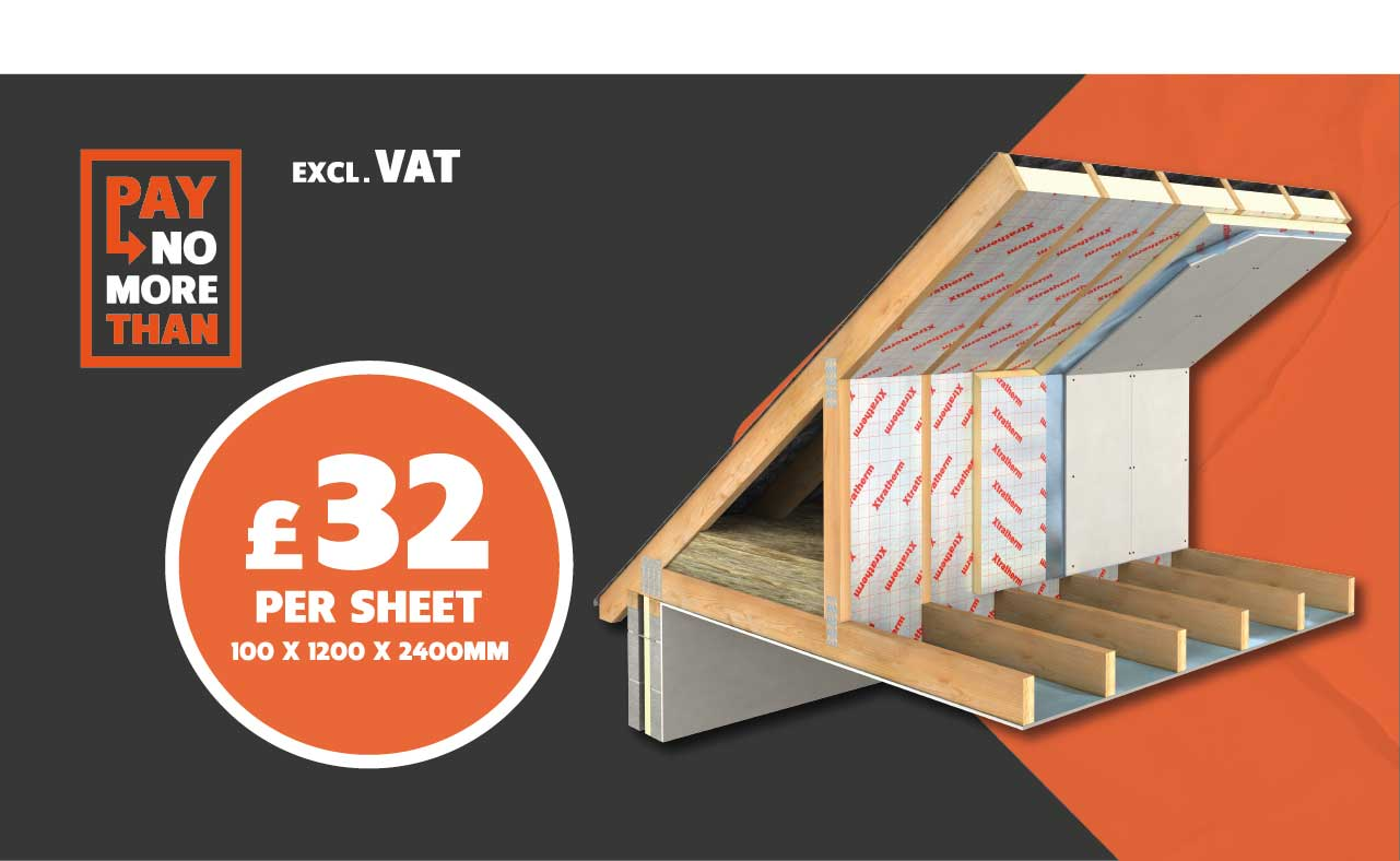 Xtratherm Foil Faced Insulation only £32 Per Sheet