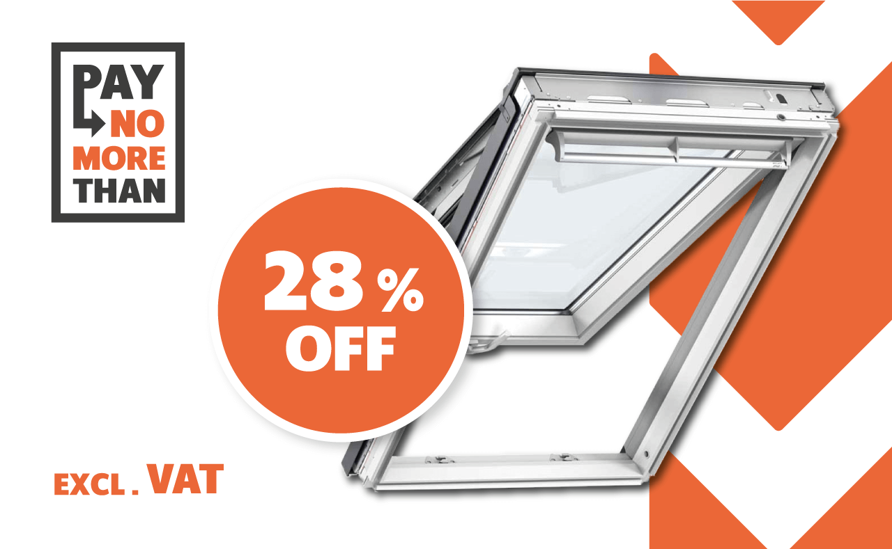 28% OFF OUR FULL RANGE OF VELUX® ROOF WINDOWS